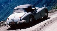 1962 August. Independence Pass, Rosebud and the Jaguar XK120.