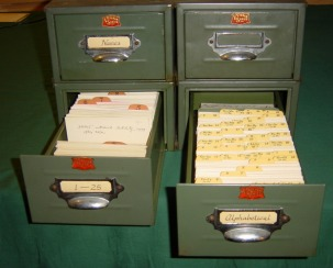 W. Ross Ashby's card index.