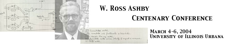 W. Ross Ashby Centenary Conference Banner.